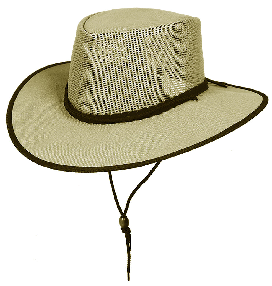 Cockatoo Contrast Canvas summer hat with mesh insert for a light breeze - OUT OF AUSTRALIA | Kakadu Traders Australia