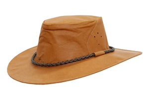 Outdoor | Leather hat Fitzroy crushable travel- luggage hat- made in Australia - OUT OF AUSTRALIA | Kakadu Traders Australia