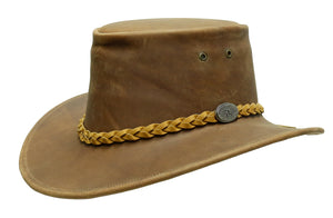 Australian cowboy | Leather hat Nullarbor for children- all weather hat in Tobacco - OUT OF AUSTRALIA | Kakadu Traders Australia