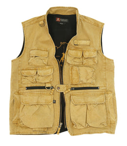 Leisure time Outdoor | Multifunctional vest Delta Canvas- in mustard - OUT OF AUSTRALIA | Kakadu Traders Australia