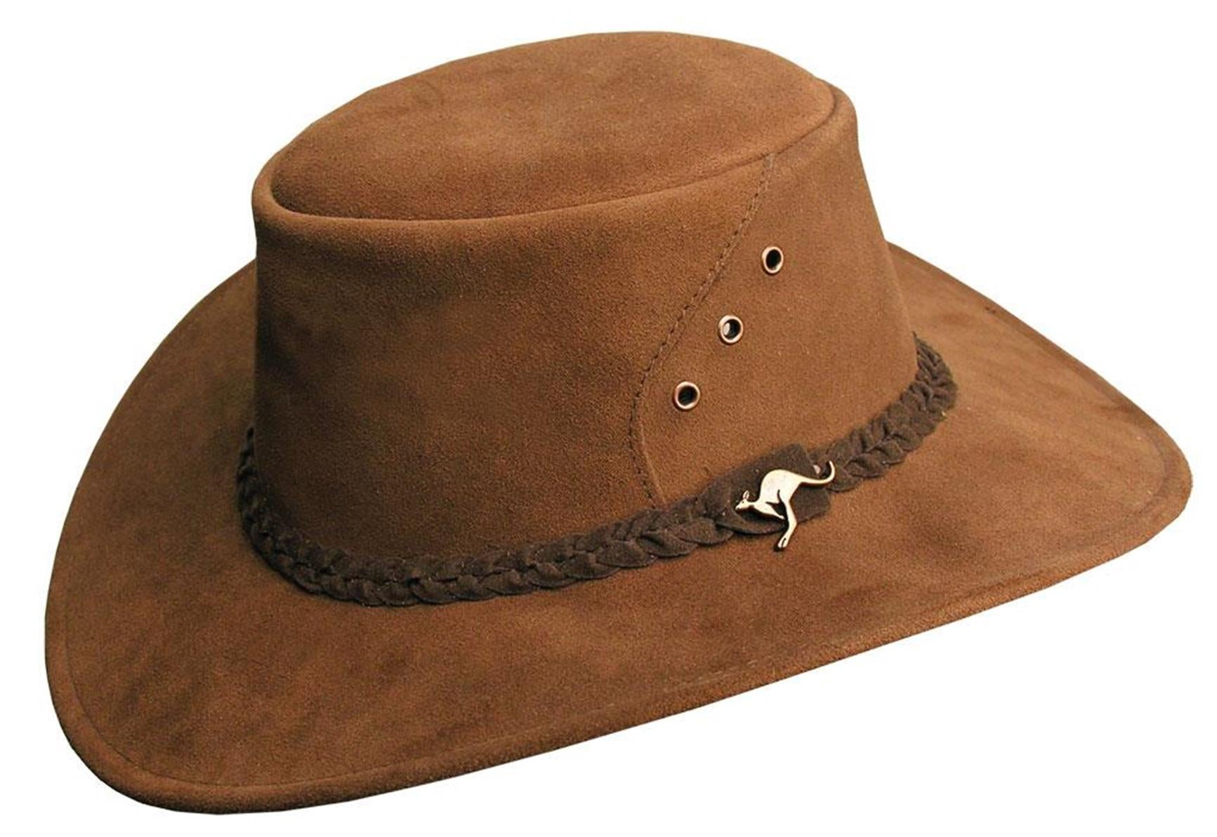 Outdoor hat made of suede The Alice in brown- Made in Australia