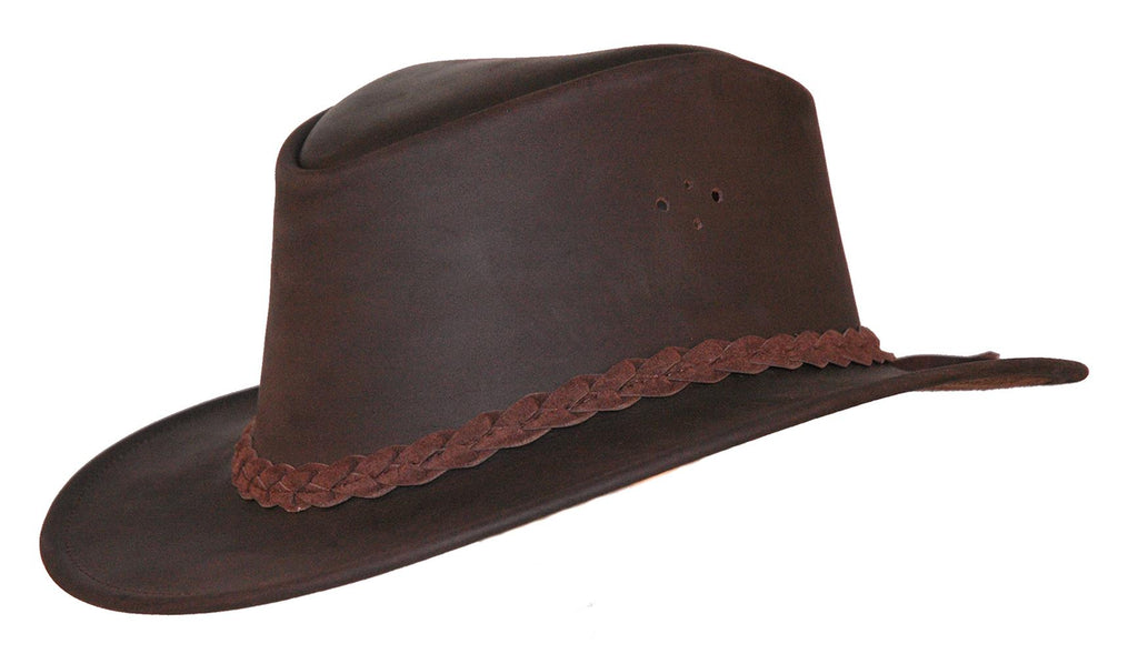 Cowboy Western | Malabar hat made of real leather Weatherproof in brown and black - OUT OF AUSTRALIA | Kakadu Traders Australia