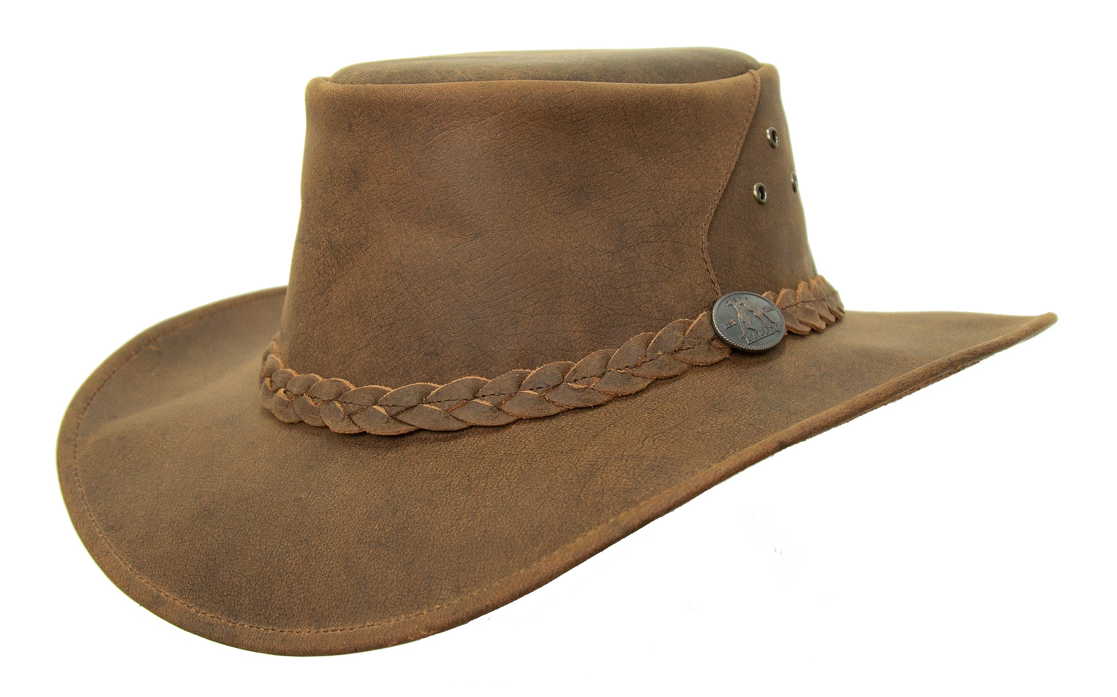 Outdoor | Leather hat Bulldog with pliable brim | Made in Australia