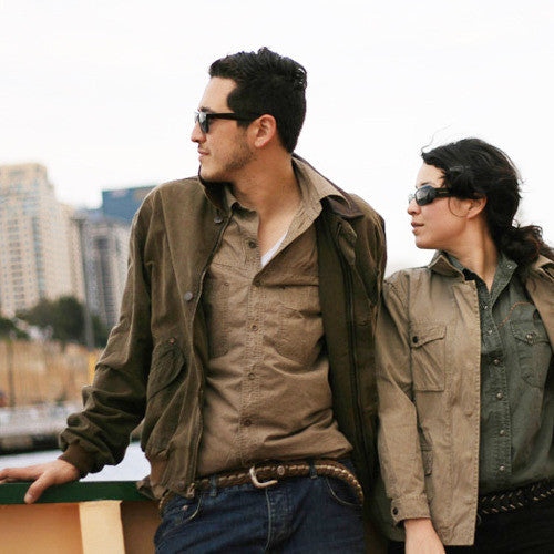 Outdoor | Leisure time Bomber | Blouson jacket with leather collar- Watson Bay in XS and S - OUT OF AUSTRALIA | Kakadu Traders Australia