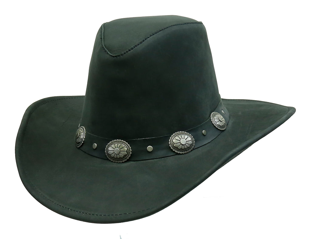 Cowboy | Western | Razorback leather hat for children with malleable brim - OUT OF AUSTRALIA | Kakadu Traders Australia
