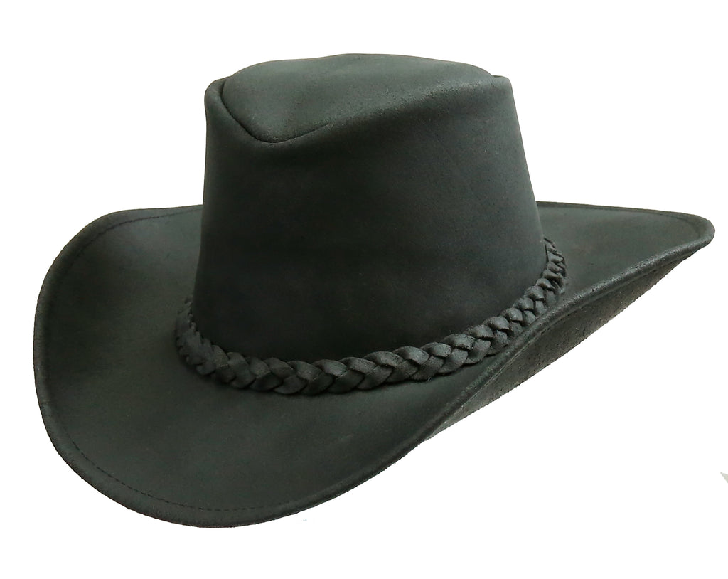 Ranger black cowboy leather hat with malleable brim Cockatoo Australia - OUT OF AUSTRALIA | Kakadu Traders Australia