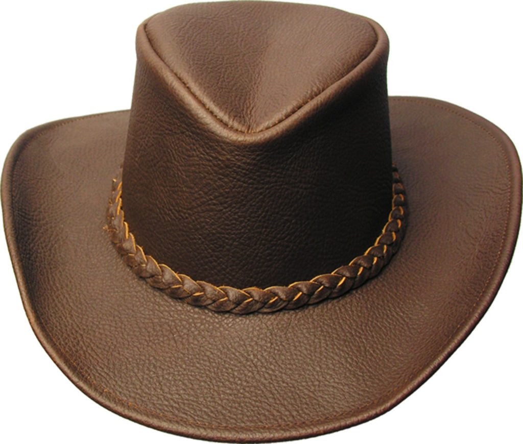 Children's cowboy leather hat - Blackwell with malleable brim and high hat block - OUT OF AUSTRALIA | Kakadu Traders Australia