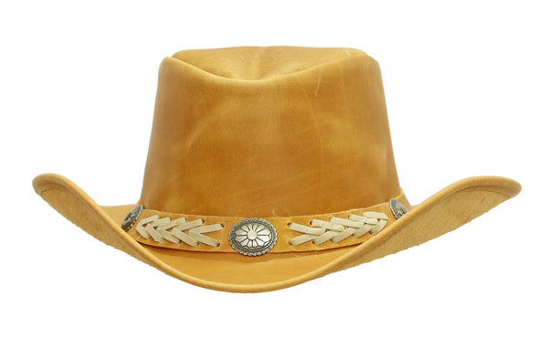 Cowboy | Western | Leather hat Arizona with moldable brim | American Style - OUT OF AUSTRALIA | Kakadu Traders Australia