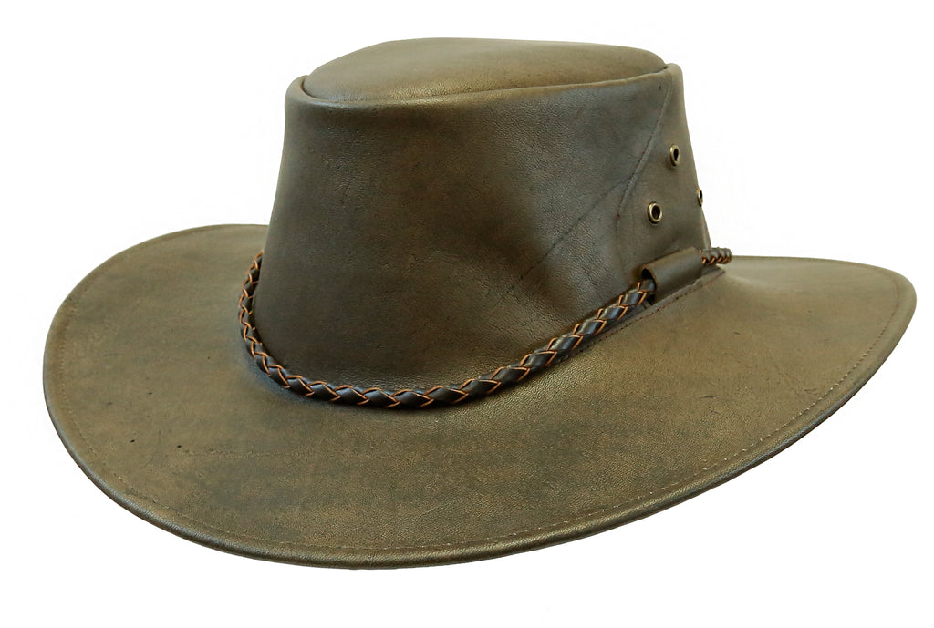 Australian Outdoor | Travel Hat Narrabeen made of Kangaroo Leather Suitcase - OUT OF AUSTRALIA | Kakadu Traders Australia