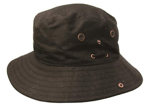 Bucket Hat | Angler | Knautsch Hut- Oilskin Wachshut Dalston Wind and Rainproof - OUT OF AUSTRALIA | Kakadu Traders Australia