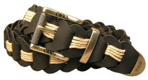 braided belt | Leather belt - Lincoln with brass buckle in black - OUT OF AUSTRALIA | Kakadu Traders Australia
