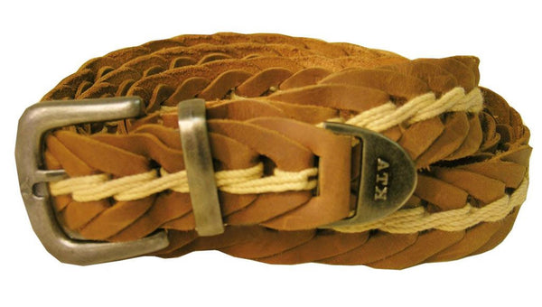 Real leather | Leather belt Tucker - handmade from leather loops in rust brown - OUT OF AUSTRALIA | Kakadu Traders Australia