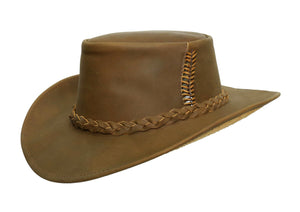 Australian Style Outdoor | Western | Leather hat Cobram with pliable brim - OUT OF AUSTRALIA | Kakadu Traders Australia