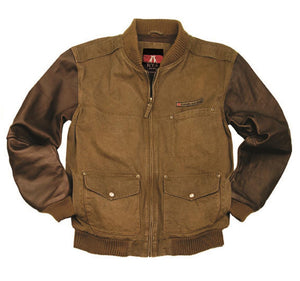 Outdoor | Blouson | Bomber jacket with leather sleeves Breaker in size S - OUT OF AUSTRALIA | Kakadu Traders Australia