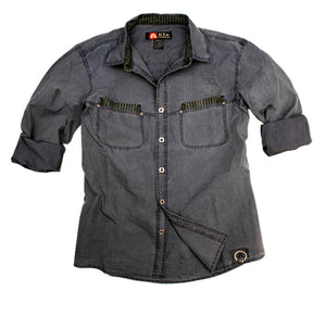 Australia Style Leisure | Outdoor men's shirt Cooper with color accents - OUT OF AUSTRALIA | Kakadu Traders Australia