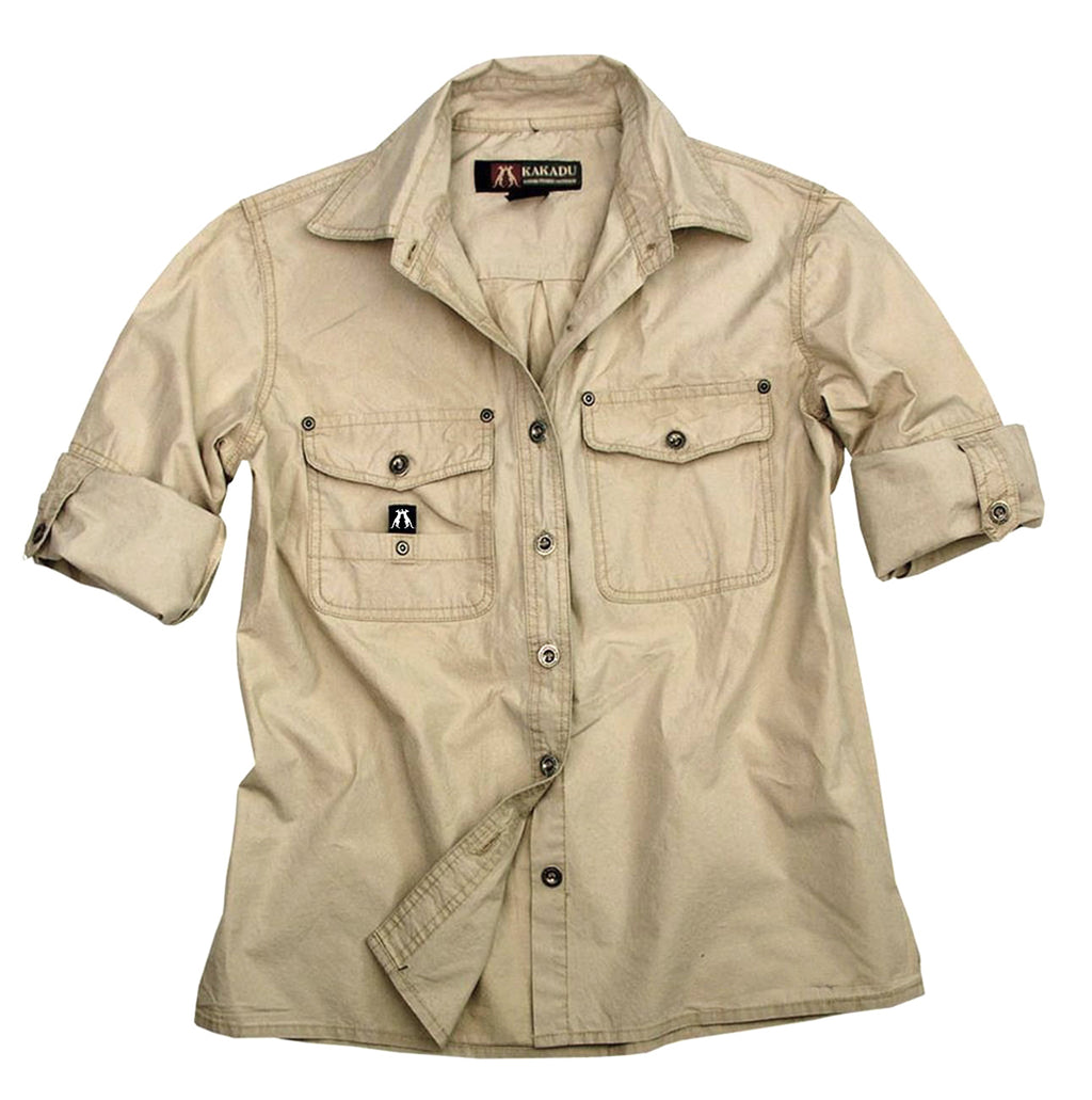Australian Style Outdoor | Safari men's shirt Concord in beige - OUT OF AUSTRALIA | Kakadu Traders Australia