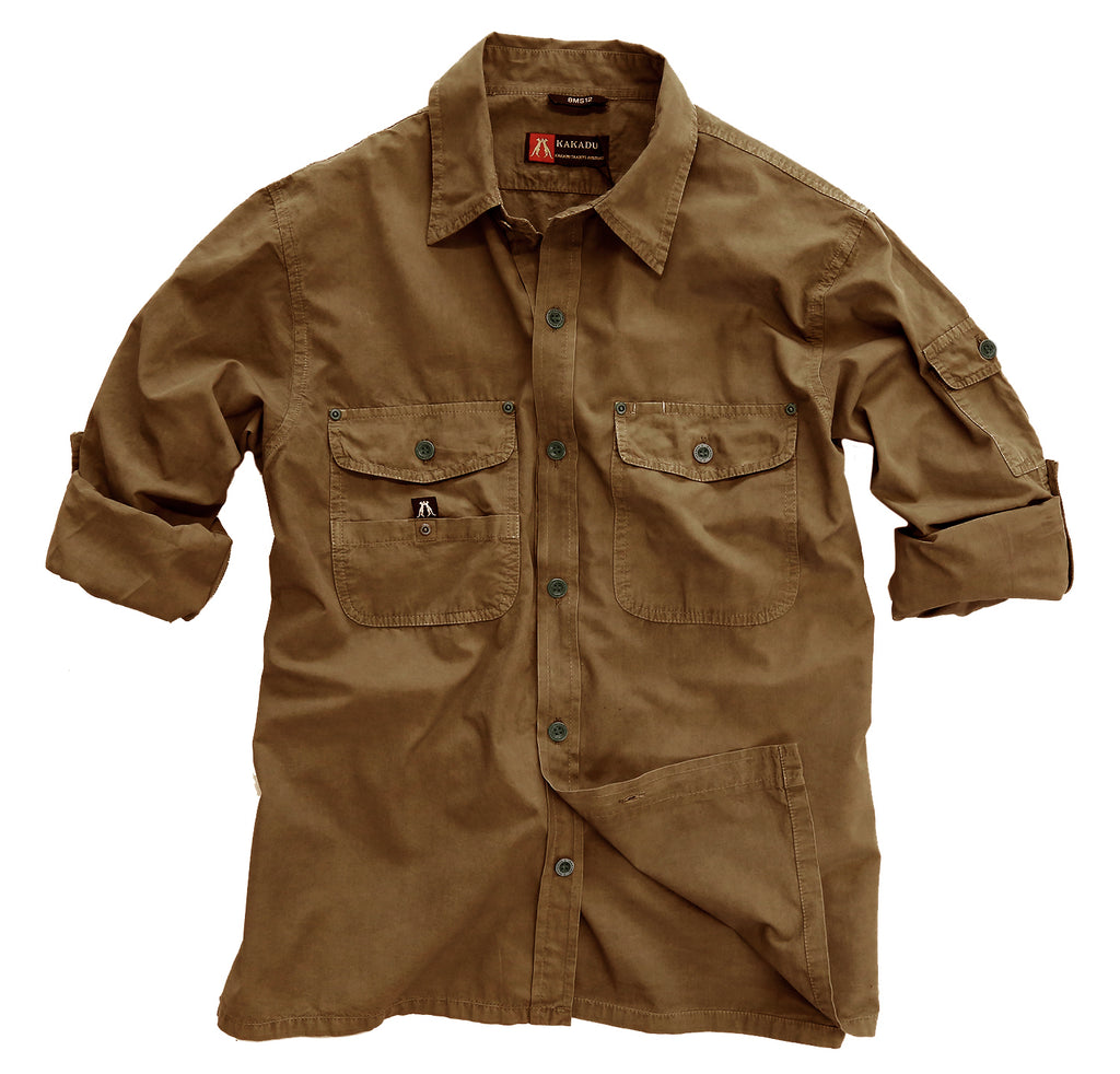 Australian Style Outdoor | Safari men's shirt Concord in tobacco - OUT OF AUSTRALIA | Kakadu Traders Australia