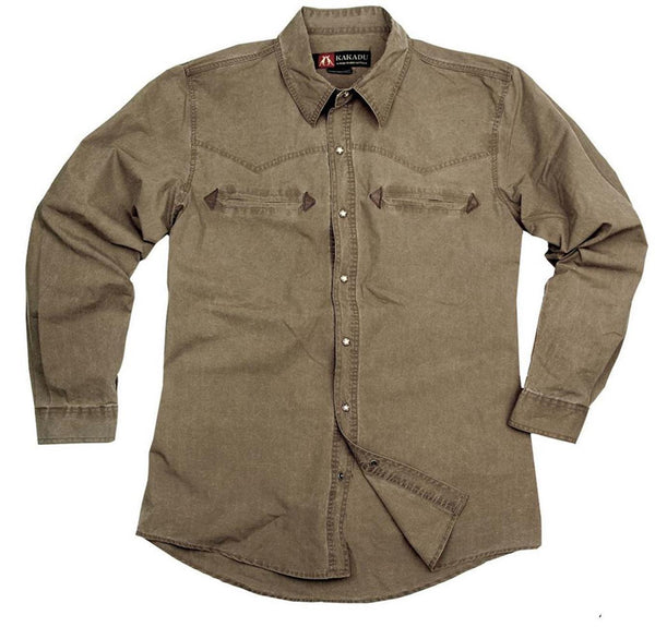 Cowboy | Western | Outdoor- Shirt- Herrenhemd Bronco in Größe S - OUT OF AUSTRALIA | Kakadu Traders Australia
