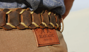 Real leather | Leather belt Dorrigo- handmade from leather loops in rust - OUT OF AUSTRALIA | Kakadu Traders Australia