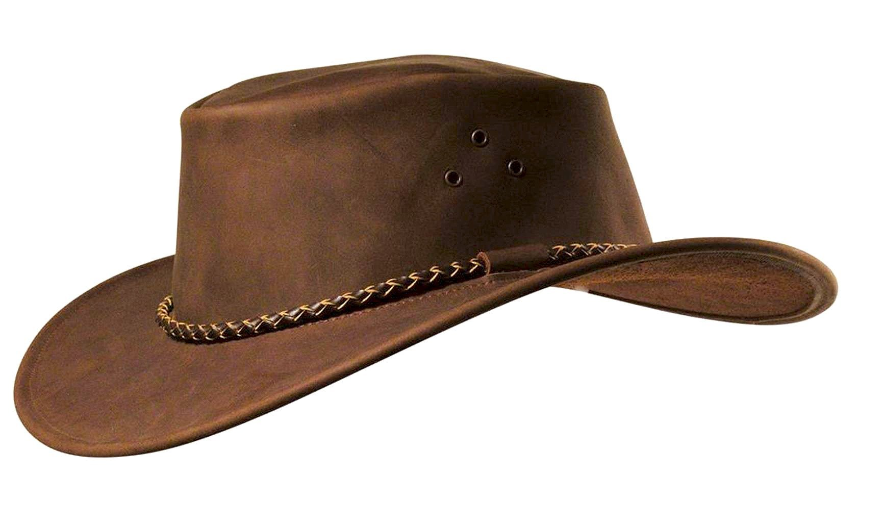Australia Style Outdoor | Leather Hat Packer soft leather with round cord - OUT OF AUSTRALIA | Kakadu Traders Australia
