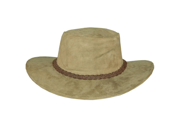 Australian Outdoor Travel Suitcase Hat in Kangaroo Leather in Smooth and Suede - OUT OF AUSTRALIA | Kakadu Traders Australia