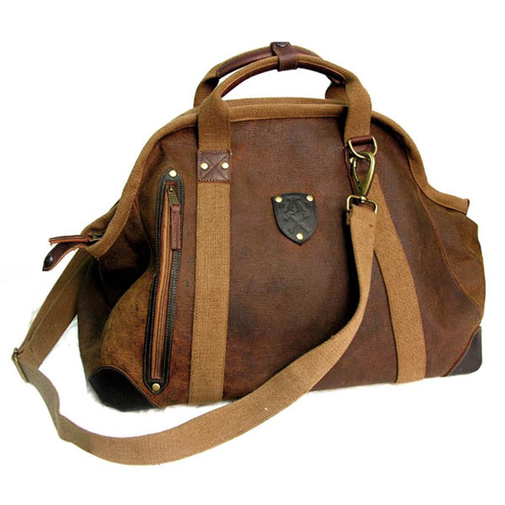 Schulter | Ledertasche | Weekender | Vintage-Look Flying Doctor's large in braun - OUT OF AUSTRALIA | Kakadu Traders Australia