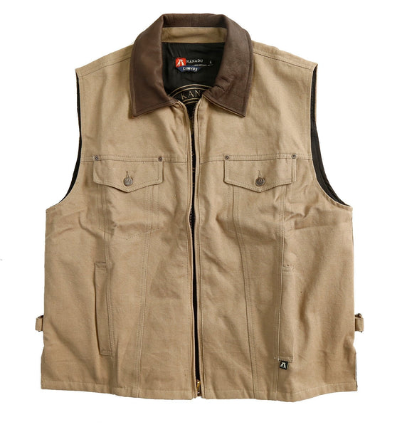 Outdoor | Leisure vest Kelly with hidden inside pockets and holster - OUT OF AUSTRALIA | Kakadu Traders Australia