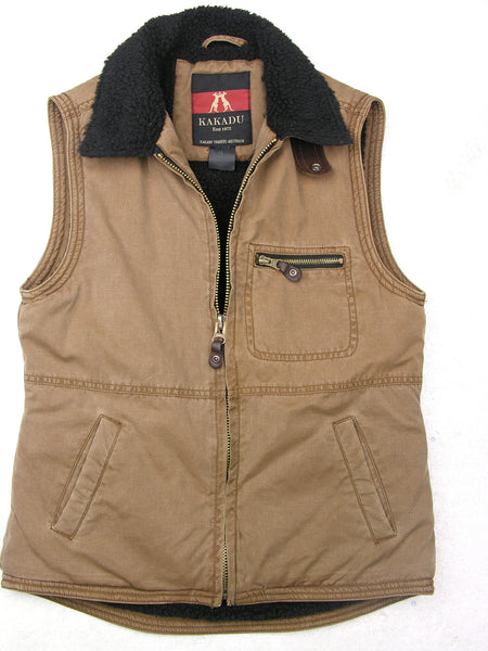 padded ladies outdoor | Quinn vest with fur collar in size M - OUT OF AUSTRALIA | Kakadu Traders Australia