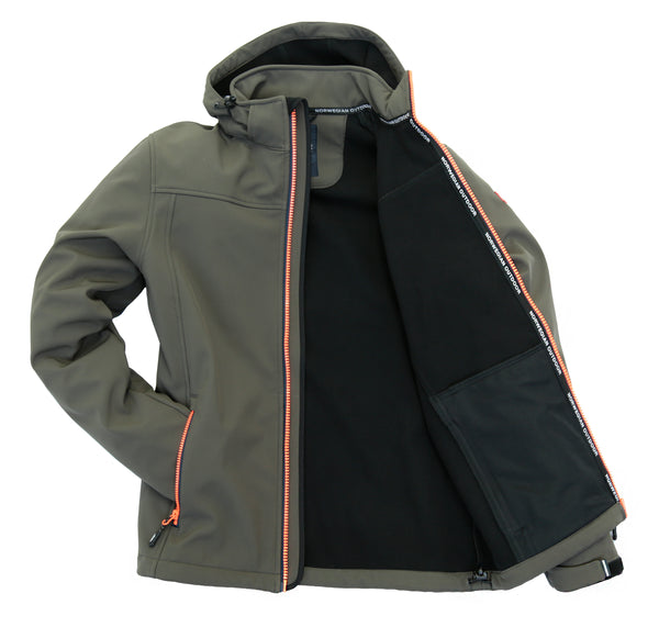Nordberg softshell jacket Mats in gray with removable hood and windproof zip