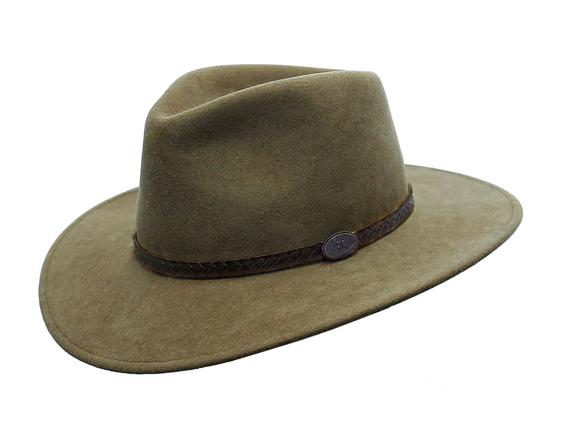 Australian Style Outdoor | Crushable wool felt hat Willis in taupe with leather hat band