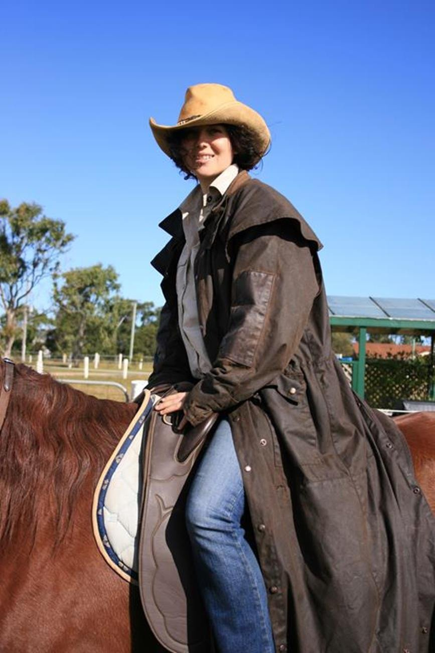 Australian Style Drover wax coat oilskin Long Rider 3-in-1 water-repellent in black - OUT OF AUSTRALIA | Kakadu Traders Australia