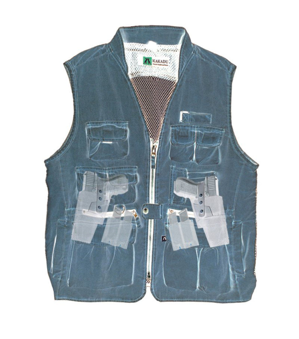 Outdoor vest Kelly with hidden inside pockets in brown L and XL - OUT OF AUSTRALIA | Kakadu Traders Australia