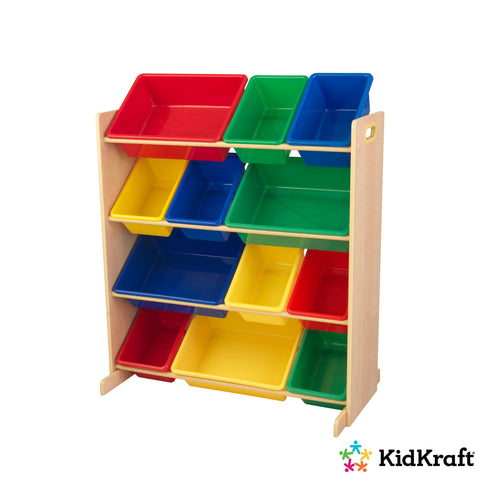 Kidkraft Sort It & Store It Bin Unit - Primary & Natural