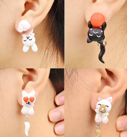 Handmade Polymer Clay Animals Earrings