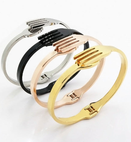 Fork Tableware Shape Bracelet