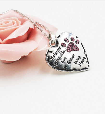 Dog Heart Necklace