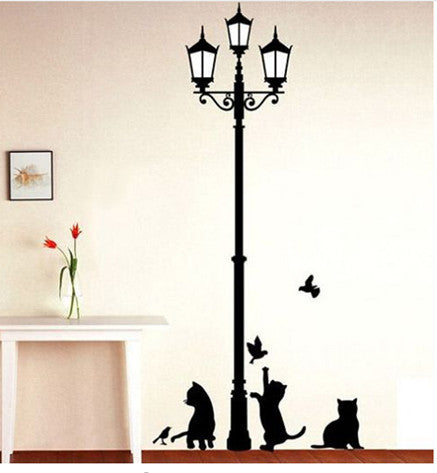 Cats and Birds Wall Sticker Mural