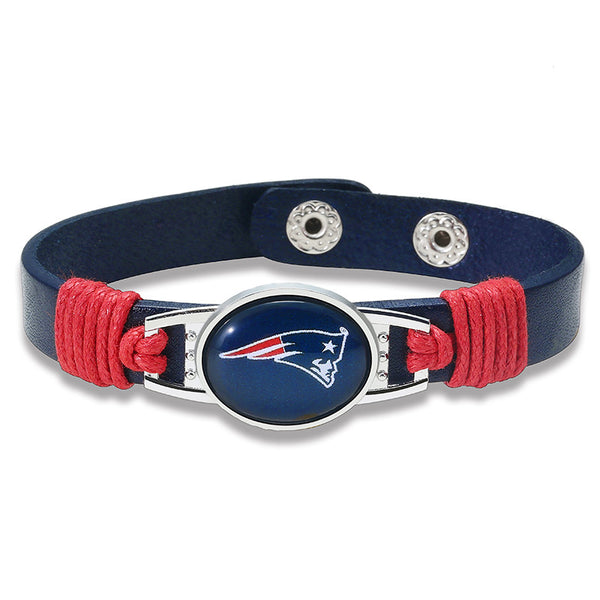 True New England Fan Adjustable Leather Bracelet (50% Off + FREE Shipping) - FanFaire