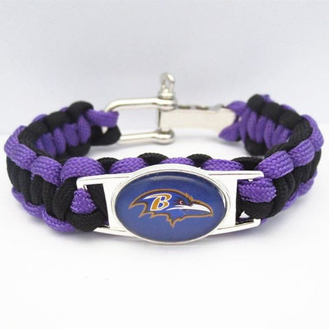Baltimore Ravens Adjustable Fan Bracelet - FanFaire