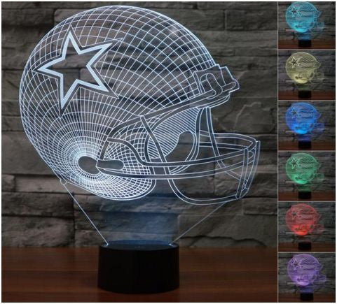 Sale! Dallas Cowboys 3D Helmet Light Lamp (50% Off Plus FREE Shipping!) - FanFaire