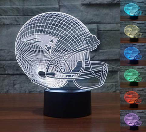 Sale! New England Patriots 3D Helmet Light Lamp (50% Off Plus FREE Shipping!) - FanFaire
