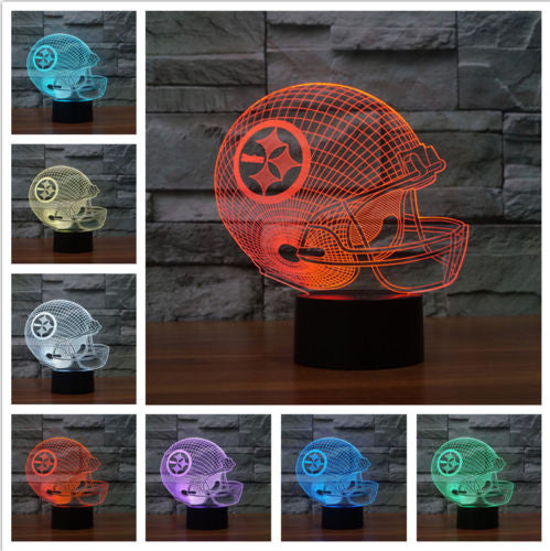 Sale! Pittsburgh Steelers 3D Helmet Light Lamp (50% Off Plus FREE Shipping!) - FanFaire