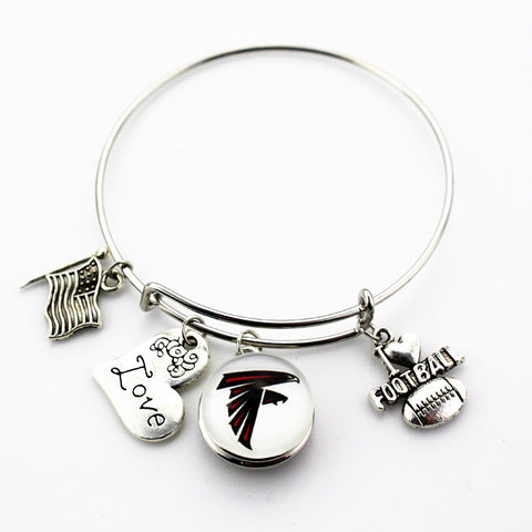 Atlanta Falcons Adjustable Bangle Bracelet (Today 50% Off + FREE Shipping!) - FanFaire