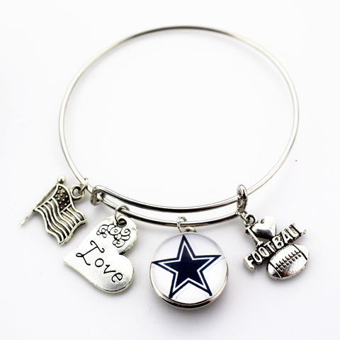 Dallas Cowboys Adjustable Bangle Bracelet (Today 50% Off + FREE Shipping!) - FanFaire