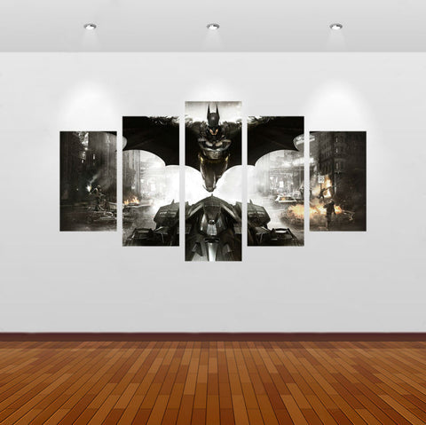Batman I Am The Night 5 Panel Wall Art (50% Off + FREE Shipping) - FanFaire