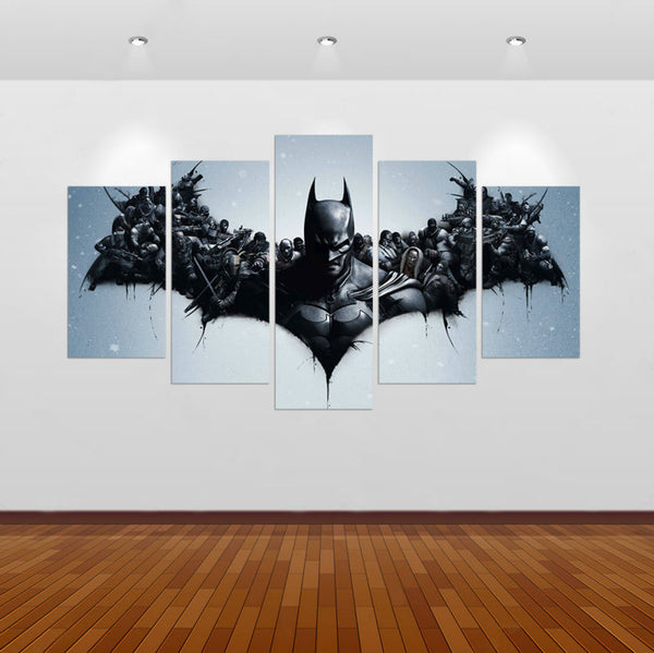 Batman I Am Vengeance Logo 5 Panel Wall Art (50% Off + FREE Shipping) - FanFaire