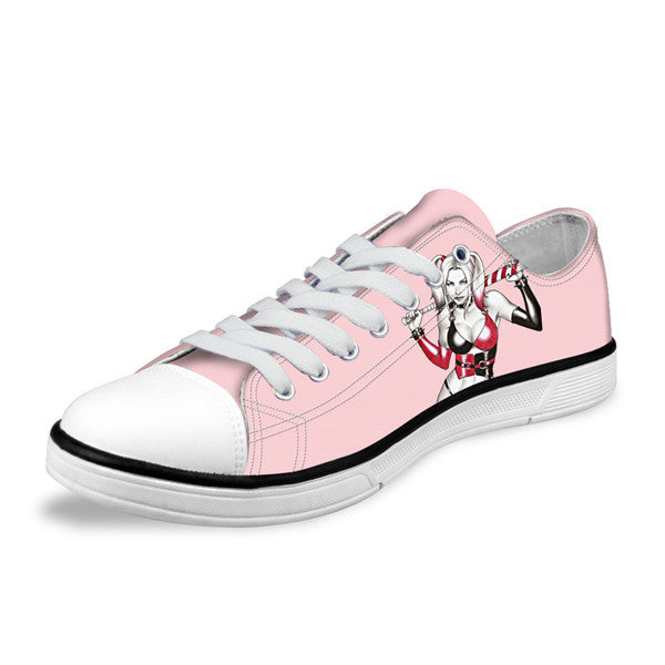Harley Quinn Suicide Squad Pretty In Pink Canvas Shoes - FanFaire