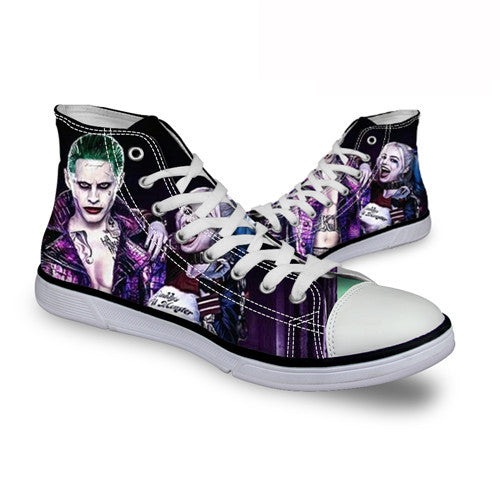 Harley Quinn Mad Love DC Comics High Top Canvas Shoes Suicide Squad Movie - FanFaire