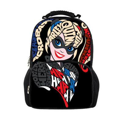 All Harley Quinn Suicide Squad School Work Travel Backpack - FanFaire