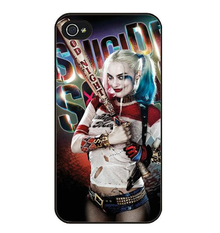 3D Harley Quinn At Bat Suicide Squad Hard Phone Case For iPhone - FanFaire